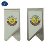 安いステンレス鋼のカスタムロゴの金属のペーパークリップ(FTPC1003H)
