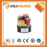 VV Cable 2 Copper Core Low Voltage PVC Insulation EP Sheath Steel Types Armor Electric Power Cable