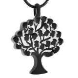 árbol de acero inoxidable 316L del collar conmemorativo de la cremación del recuerdo de la urna de la vida