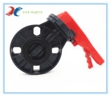 PVC plástico verdadera unión válvula de bola con mango rojo