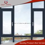El aluminio Swing Casement ventana con doble vidrio templado