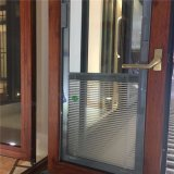 Estilo de las Américas de aluminio y vidrio Casement Ventana con persianas integral