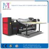 Stampante di getto di inchiostro UV a base piatta ibrida per metallo di legno acrilico Mt-UV2000he