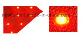 Poteau de signalisation solaire de sens de flèche de DEL