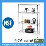 NSF와 SGS 승인을%s 가진 크롬 금속 와이어 선반 선반설치