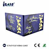 Горячая продавая красивейшая карточек приветствию и делу LCD 6 дюйма видео- для приглашения/подарка