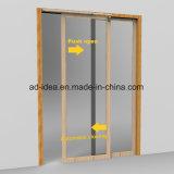 46polegadas Sldiing sólidos de madeira no interior de porta para esconder o trinco da porta