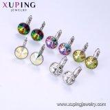Xupingの模造アメリカのダイヤモンドのたがデザイン白い金はSwarovskiからのイヤリングの水晶を越える