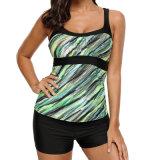 Swimwear do Beachwear dos troncos de natação das mulheres da forma