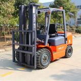 容器作業3000kgディーゼルフォークリフト3の段階のマストおよび側面のベルト寄せ