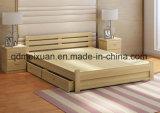 固体木のベッドの現代ダブル・ベッド(M-X2323)