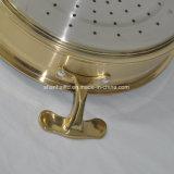 Cookware Titanium do ouro tripla todo o jogo de aço folheado do Cookware