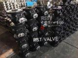 Fundición de Acero Inoxidable 2PC Válvula de bola con brida de bola flotante