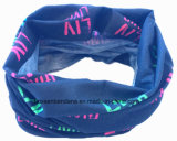 Bandana magico UV rosso su ordinazione del turbante di Tubies del collo del poliestere 25*50cm dei prodotti dell'OEM della fabbrica della Cina