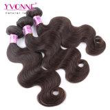 イボンヌペルーのRemyの毛ボディ波のブラウンカラー毛