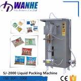 O suco automático da água bebe a máquina de embalagem líquida do pacote do xarope