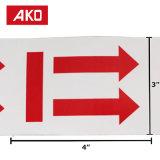 Безопасности в курсе Exactlly красный наклейки этикеток
