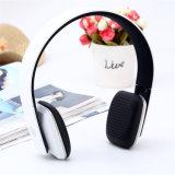 이어폰 Bluetooth 헤드폰이 고전적인 싼 무선 머리 위 입체 음향에 의하여