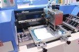 Атласный этикетки автоматическая трафаретная печать машины с двойной поверхности печати