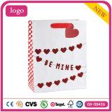 Одежда настоящего момента сердца дня Valentine красная обувает мешки подарка бумажные