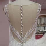 Trägerlose Brautkleider A - Zeile Satin-Hüllen-Spitze-Mieder-Hochzeits-Kleid