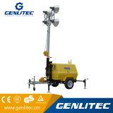 La construcción Portable 9m de mástil telescópico móvil motor Kubota Torre de Luz Generador Diesel