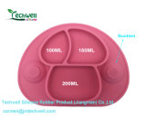 BPA는 흡입 아이 실리콘 Placemat를 가진 Mushroon에 의하여 형성된 좋은 그립을 해방한다