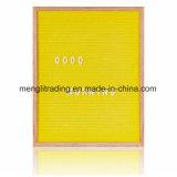 Table des messages de 10 pouces comprenant le sac de coton de 340 lettres en plastique et le stand collectifs en bois