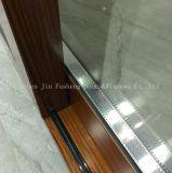 Le transfert de chaleur du grain de bois profilé en aluminium porte coulissante en verre