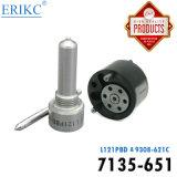 Erikc 7135-651デルファイの注入器の修理用キット7135 651 (7135651)弁Ejbr02201z/Ejbr01302z /Ejbr01601zのための9308-621cそしてノズルL121pbdの自動工具セット