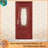 Desheng hölzerne feste hölzerne Tür im Kabinendach-fantastische Tür-Glasentwurf