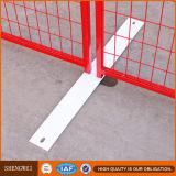 Pintura galvanizada y del PVC que suelda las cercas temporales