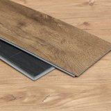 La planche d'étage de PVC de cliquetis de noix/bois UV d'enduit modèle la planche de vinyle