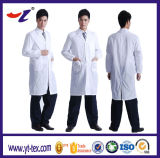 gown 닥터 100%년 면 또는 65% Polyester35% 면 백색 실험실 외투