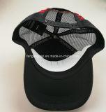 Casquillo curvado negro modificado para requisitos particulares del acoplamiento del camionero del borde de la insignia del bordado