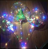 LED 가벼운 크리스마스 훈장 산타클로스 거품 풍선 투명한 풍선