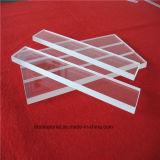 La mejor calidad de calor óptico UV transparente resistente a la diapositiva de cristal de cuarzo.