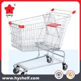 Супермаркет металла магазинов передвижной тележке