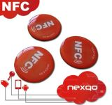 Promoção! ! ! Ntag213 Tag adesivo da etiqueta do papel revestido NFC do diâmetro 25mm