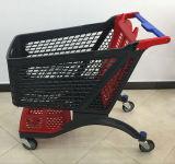 Chariot en plastique de chariot à achats de supermarché de tailles importantes chaudes de vente