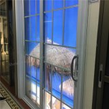 Vidro corrediço de alumínio com Porta Interior/Exterior de vidro temperado duplo (JLS-8021)