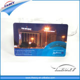 Tarjeta elegante de la identificación de la viruta del PVC RFID del plástico para el hotel