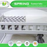 Breathable haltbares und einfach, wasserdichten gesteppten Krippe-Matratze-Auflage-Deckel mit organischem Bambusbaby Washcloths zu waschen