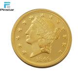 공장 직접 판매 기념품 금속은 주문 금화를 화폐로 주조한다