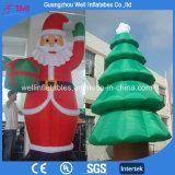 Caliente la venta de inflables inflables de Papá Noel Papá Noel Navidad inflable tres