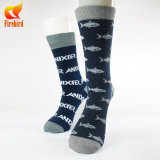 Calcetines ocasionales de los hombres, calcetines felices de la alineada del Muti-Color de los hombres de los calcetines