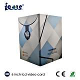 A5 A4 Grootte 6.0 LCD van de Kleur '' TFT de VideoSpeler van de Brochure ondersteunt Al Formaat