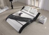 現代調節可能な頭板の完全な革寝室のベッド