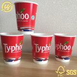 Le tazze di caffè asportabili rese personali hanno stampato le tazze di carta all'ingrosso