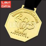 Premio personalizados baratos de alta calidad de metal dorado Blankl recuerdos de la medalla de llanura de metal